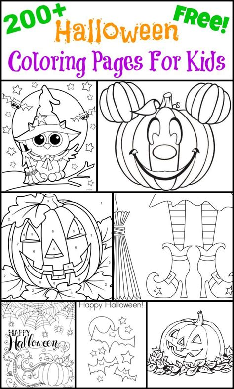 nice halloween coloring pages 200 free halloween coloring pages for kids the suburban