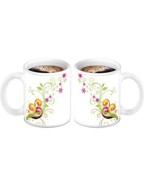 flower design mugs homesogood beautiful colored flower design on ceramic
