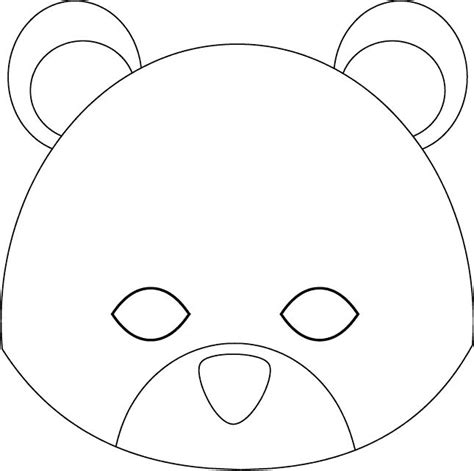 bear mask coloring page bear mask coloring pages coloring pages