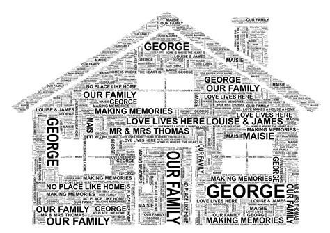 house synonym house personalised word art print free uk p p