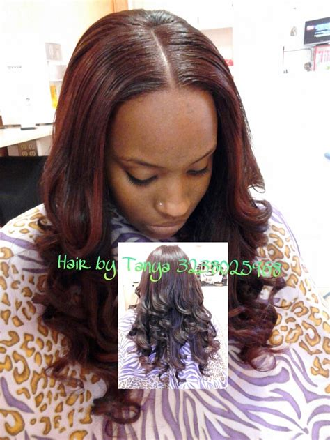 full head sew in styles full head sew in w lil out tracked hair and hair left