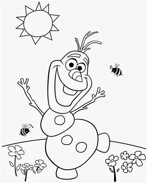 everyone in frozen coloring pages