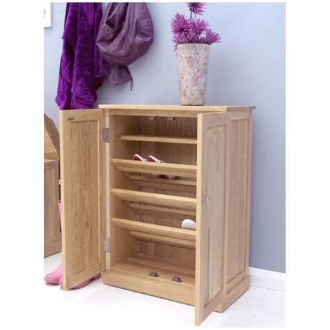 Oak Shoe Storage Cabinet Mobel Solid Oak Furniture Shoe Storage Cabinet Cupboard Ebay