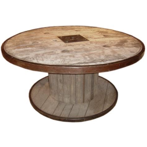 large industrial spool table at 1stdibs