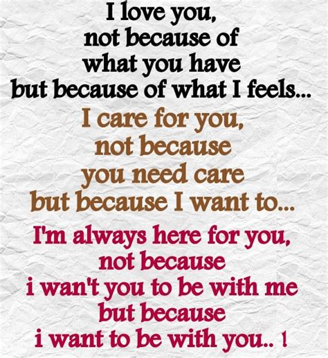 because you love to because of you quotes quotesgram