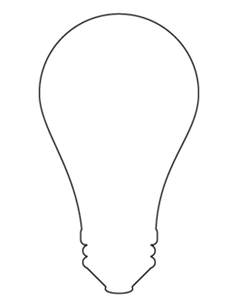 Free Shape And Object Patterns For Crafts Stencils And More Page 15 Large Light Bulb Template