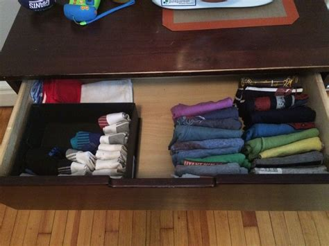 Folding Clothes In Drawers by Kondo Konmarie Folding Clothes Organizing How To