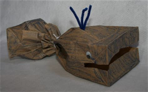 Paper Bag Whale Craft - paper bag whale craft munchkins and