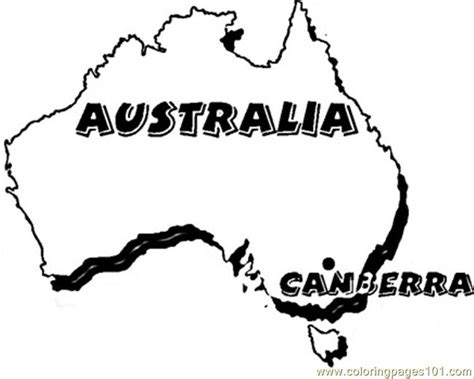free coloring pages of australia color pages