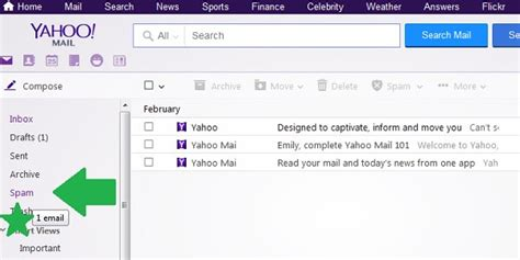 yahoo email junk how to mark and delete spam in yahoo mail