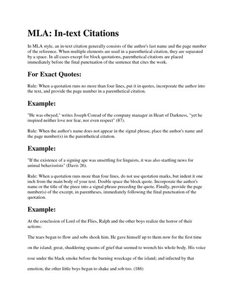 mla citation in essay mla in text citations step by step guide mla