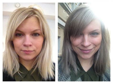 before after gray hair before and after gray hair short hairstyle 2013