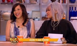 rosie perez bad wig rosie perez blows her top backstage at the view because of