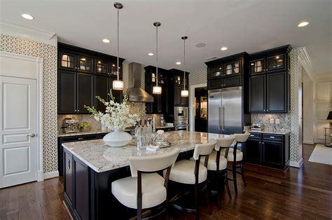 Black Cabinet Kitchen Designs Black Wood Kitchen Cabinets Design Ideas