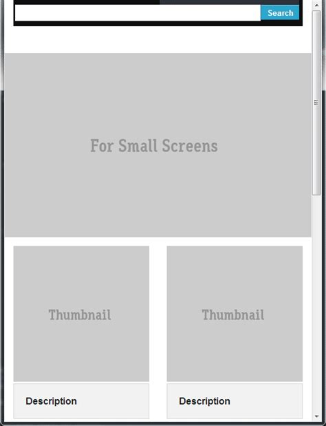 html css top bar html full width search top bar for small in zurb