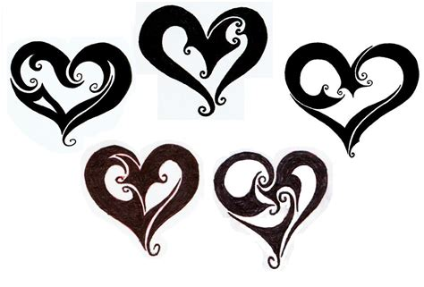 two heart tattoo designs photos ideas images pictures popular
