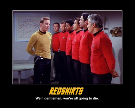 Redshirt Meme - the red shirt nerds and nomsense