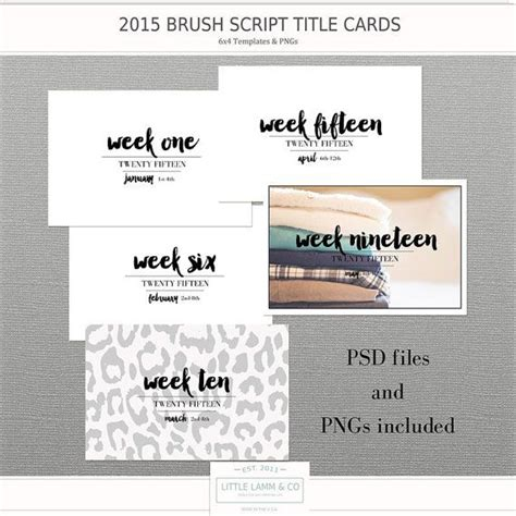 Week Psd Template For Cards by 17 Best Images About Project Printables On