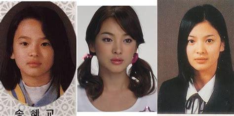 foto perubahan aktor film boboho masa kecil vs dewasa perubahan song hye kyo dari kecil hingga siap menikah