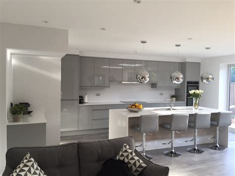 kitchen grey remo silver grey gloss kitchen london kitchen ergonomics