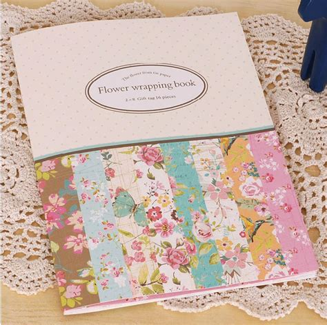 design home gift and paper 16 sheets of mini gift pattern wrapping paper book 8