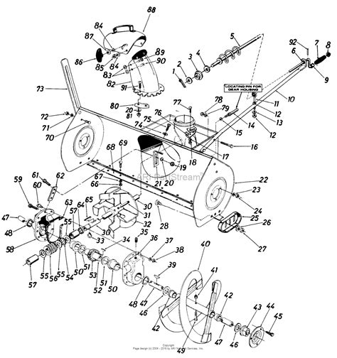 yardman snowblower parts diagram mtd 190 830 000 1987 parts diagram for 45 quot snow thrower