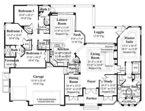 house of the week floor plans plan of the week florida house plans sater design collection