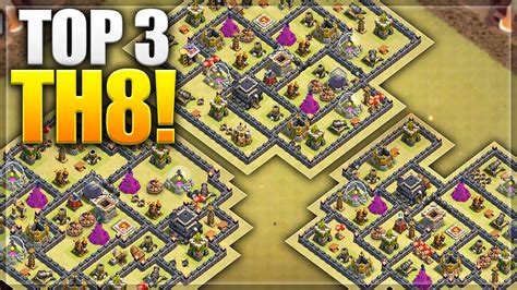 th8 layout new update clash of clans top 3 th8 war bases 2016 new update