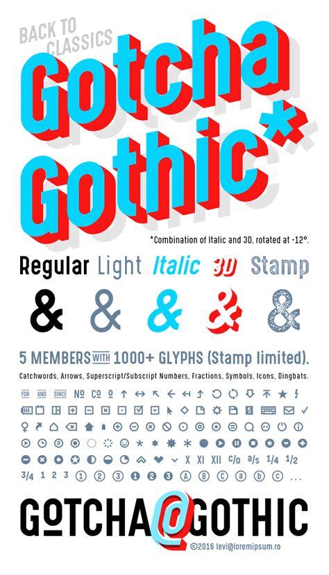 gotcha gothic font family befontscom