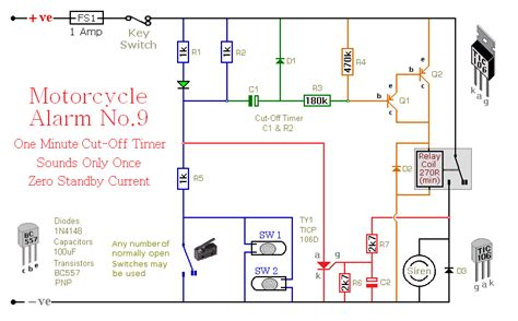 image gallery motorcycle alarm schematic