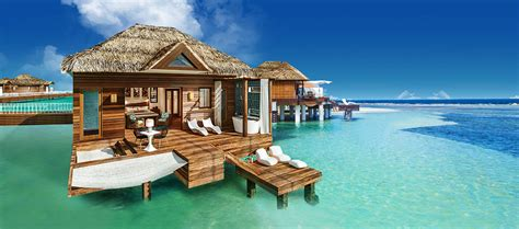 overwater bungalow sandals royal caribbean luxury beach resorts in montego