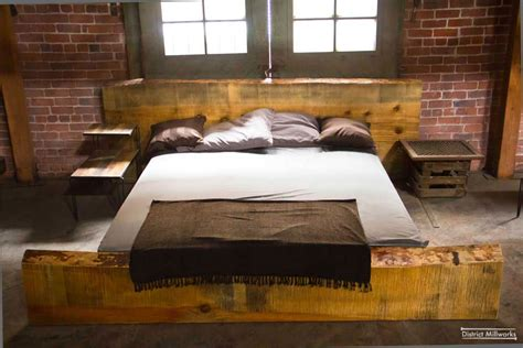 industrial bedroom decor urban rustic beds panda s house