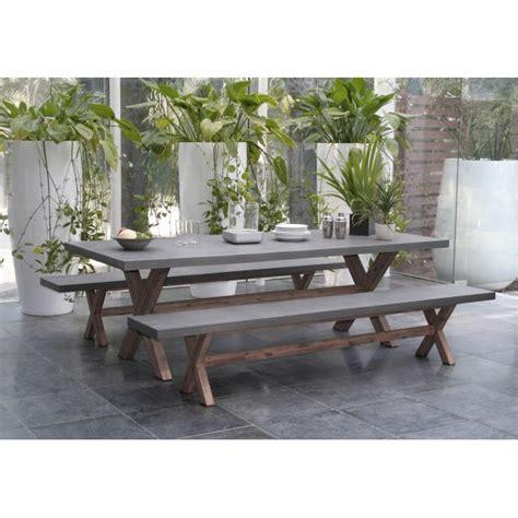 Salon De Jardin En Beton by Salon De Jardin Aspect B 233 Ton Et Pi 232 Tement En Acacia Table