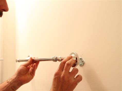 where to install towel bar in bathroom how to install a bathroom towel bar how tos diy
