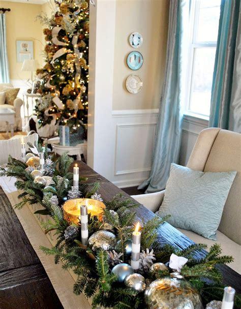 centros de navidad  decorar la mesa  estilo