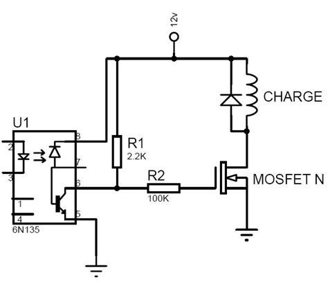 transistor mosfet commutation forum abcelectronique montage d un optocoupleur