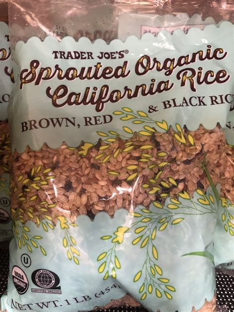 organic sprouted rice trader joes pantry staples