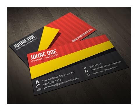 folding business card template folded business cards free premium templates