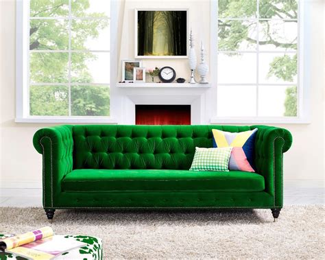 bright green sofa 30 lush green velvet sofas in cozy living rooms