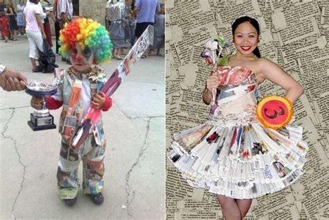 imagenes de disfraces de halloween reciclados disfraces originales fotos de creaciones con papel de