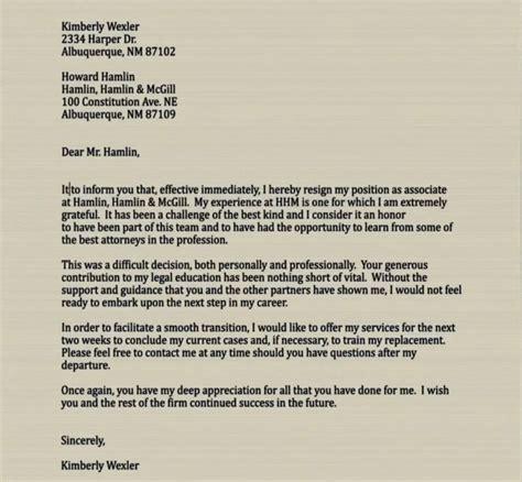 boilerplate letter of resignation resume layout 2017