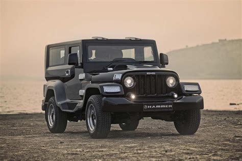 mahindra jeep thar modified dc design hammer a modified mahindra thar autobics