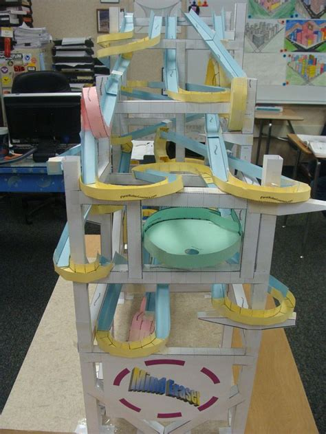 How To Make A Roller Coaster Out Of Paper - 8 best roller coasters images on paper roller