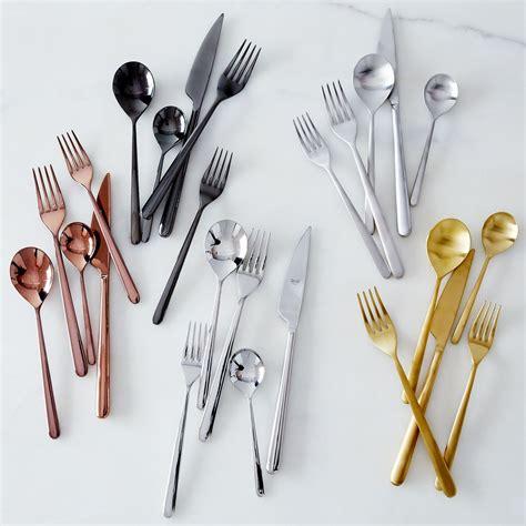 minimalist flatware italian flatware linea 5 piece set flatware