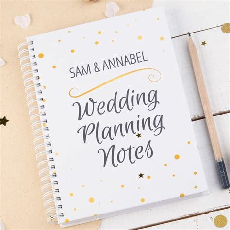 Wedding Notes by Personalised Notebook Wedding Planning Notes