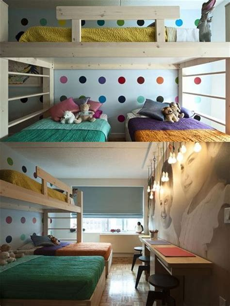 what to do with extra room in house 3 children bunk beds in small bedroom when you re living