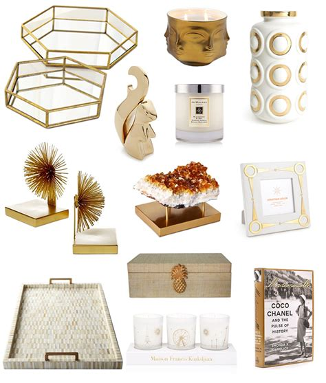 gold home accessories fashionable hostess fashionable
