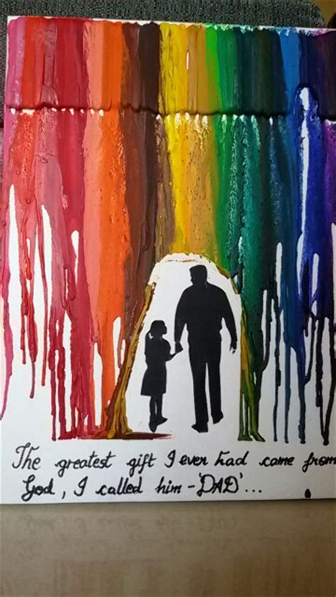 Handmade Gifts For Dads Birthday - diy birthday gift for melted crayon creative
