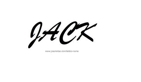 tattoo name jack jack name tattoo designs