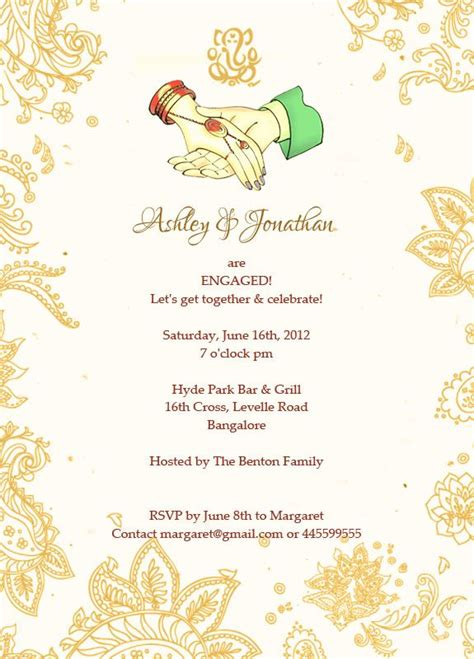 ring ceremony invitation card template free 13 best images about engagement invitation wordings on